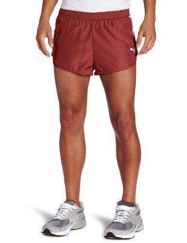 PUMA Puma Men's Tb Running Split Shorts (Team Burgundy, Large)