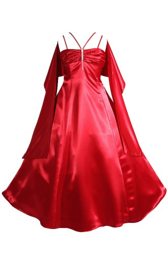 Amj Dresses Inc Girls Red Flower Girl Pageant Christmas Dress Size 10