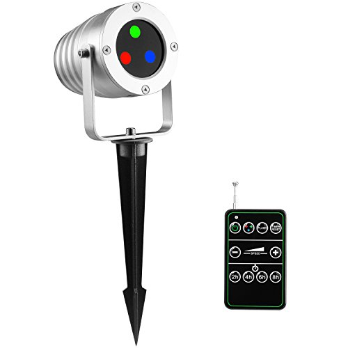 Aluminum-Alloy-Waterproof-Outdoor-Laser-Christmas-Light-Projector-with-RF-Wireless-Remote-Red-Green-and-Blue-Star-Show-Laser-Lamp-for-Halloween-Christmas-Holiday-Party-Landscape-FDA-Approved