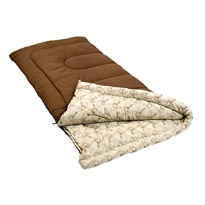 Coleman Autumn Trails Big and Tall Sleeping Bag (Brown)