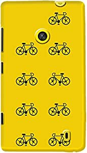 DailyObjects Cycle Case For Nokia Lumia 520 (Back Cover)