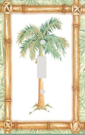 Bamboo Palm Tree Green Decorative Switchplate Cover