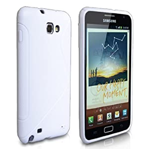 Yousave Accessories TM White S-Line Silicone Gel Case Cover For The Samsung Galaxy Note