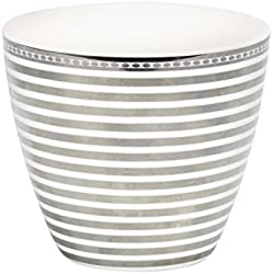 Greengate Stripe Latte Cup silver One Size