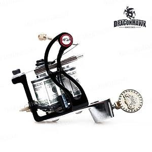 Tattoo gun dragonhawk tattoo machine premium iron 10 wrap for Amazon tattoo machine