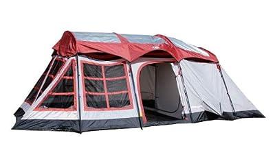 Tahoe Gear Glacier 14 Person 3-Season Family Cabin Camping Tent w/ Rain Fly