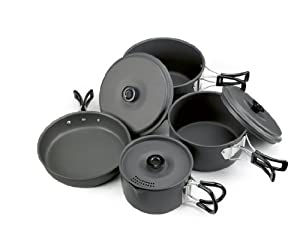 Outbound Nootka Hard Anodized Aluminum Cookset (Grey, small) by Outbound Equipment