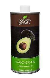 Naturally Grown Avocado Oil, 16.9 Oz. (500ml) Tin Can, Made in France