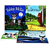 Julia Donaldson 4 Books Collection Activity Set Axel Scheffler RRP: $50.94 (The Gruffalo (Hardback), Tabby McTat (Hardback), A Squash and a Squeeze (Hardback), The Snail and the Whale (Paperback)) ~ Julia Donaldson