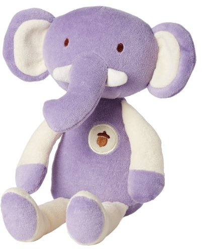 My Natural Plush Toy, Purple Elephant front-132418