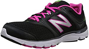 New Balance Women's W850V1 Running Shoe,Black/Pink,8 B US