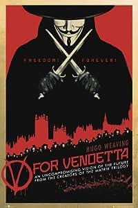 1art1 60220 V Pour Vendetta Poster Freedom Forever 91 x 61 cm