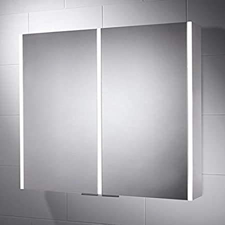 815 x 700 Sienna LED Illuminated Cabinet & Bathroom Mirror with Built In Shaver Socket and Motion Sensor