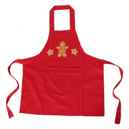 Red Gingerbread Boy Cooking Apron
