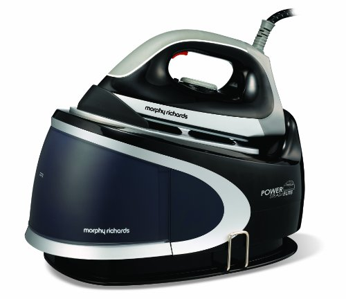 Morphy Richards Power Steam Elite 42221 Pressurised Steam Generator with Ceramic Soleplate, Black