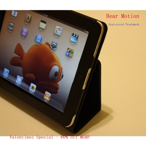 Bear Motion (Trademark) Genuine Leather Case for Apple Ipad 1 (first generation) - Black