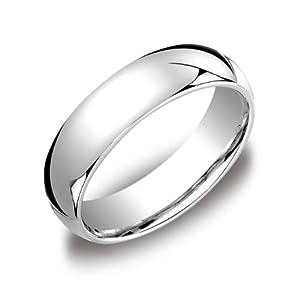Men's Platinum 6mm Comfort Fit Wedding Band Ring, Size 9