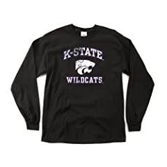 NCAA Kansas State Wildcats 100-Percent Pre-Shrunk Vintage Mascot Long Sleeve Tee,... by SDI