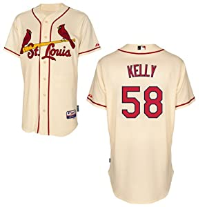 Joe Kelly St Louis Cardinals Alternate Ivory Authentic Cool Base Jersey by Majestic by Majestic