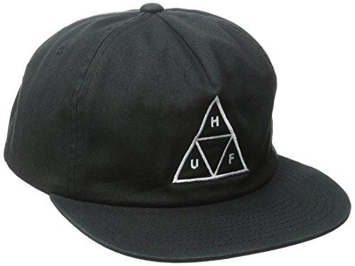 HUF Men's Triple Triangle Snapback, Black, One Size (Huf Cap compare prices)