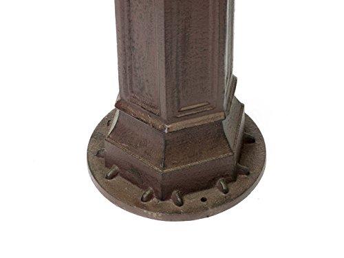 Fontaine de jardin sur pied - style antique - fer - marron