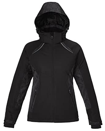 North End Linear Womens Black Insulated Winter Snow Ski Snowboard Jacket Coat