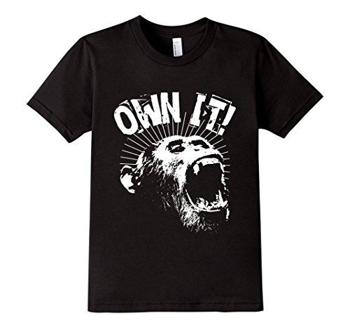 Kids-EmmaSaying-Own-It-Roaring-Gorilla-Ape-Monkey-Cool-T-Shirt-Black