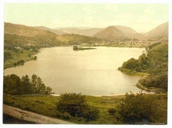 1890s photo Grasmere, Lake District, England. vintage photograph creative collec