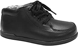 Smart Step by Josmo Unisex Infant/Toddler First Walker Oxford Shoes, Black, 7.5 W US Toddler