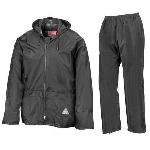 Completo antipioggia - Uomo (Giacca e Pantalone) (M) (Nero)