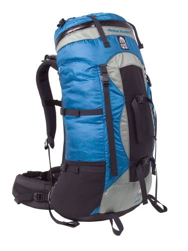 B000XUJ0A8 Granite Gear Nimbus Meridian Backpack, Blue/Grey, Short Torso