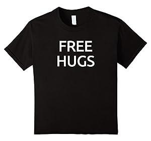 Kids Free Hugs Cool T-Shirt For Huggers 6 Black