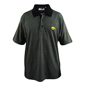 Iowa Hawkeyes Cutter and Buck Drytec Resolute Polo by Cutter & Buck