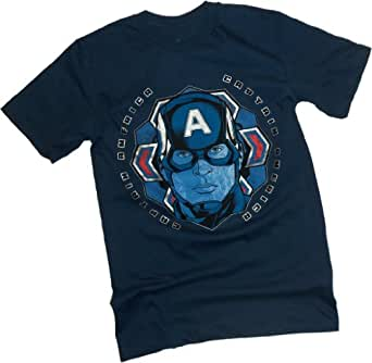 Colored Snow Flake -- Captain America: The Winter Soldier Movie T-Shirt, Small