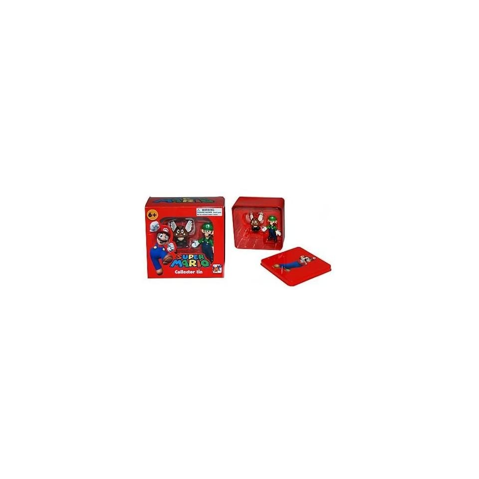 Nintendo Super Mario  Luigi & Paragoomba Figure Tin Set