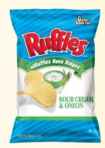 Ruffles Original Sour Cream And Onion, 9.5 Oz (Pack Of 3)