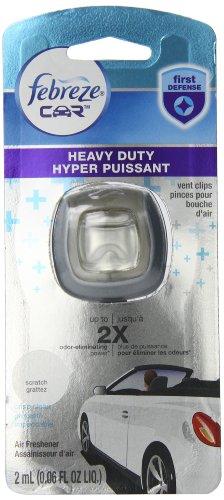 Febreze Car Vent Clip Heavy Duty Crisp Clean Air Freshener (1 Count, 2 Ml) (Pack Of 8) front-465517