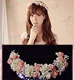 女の子憧れの ロマンチックな お花の 冠 結婚式 写真撮影などにも