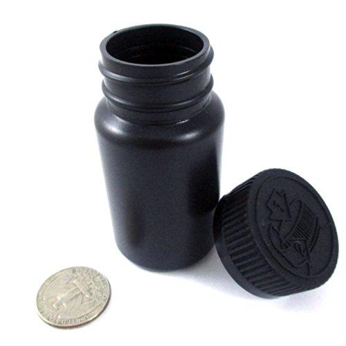 2 Empty Plastic Pill Bottles Medicine Container Vitamin Case Capsule Drug Holder