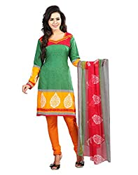 Yehii Women's Crepe Green Paisley dress material Unstitched Salwar Kameez Dupatta for women party wear low price Below Sale Offer