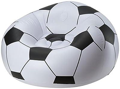 Badefigur Soccer Ball Chair - schwarz/weiss