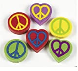 1 Peace Sign Erasers