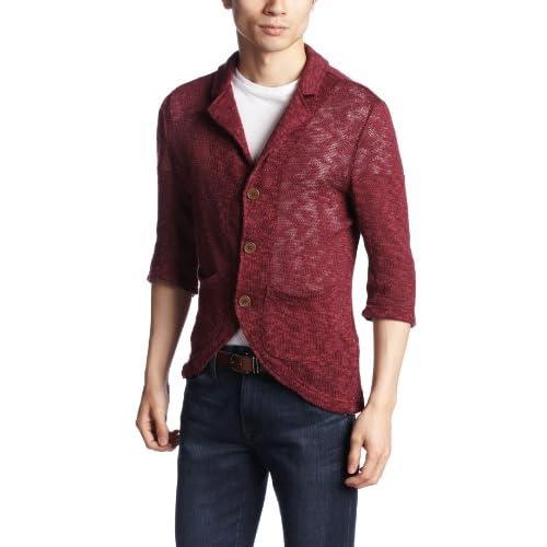 (ビーノ)BENO 6分袖ジャケット 320S4467 37 ワインレッド M