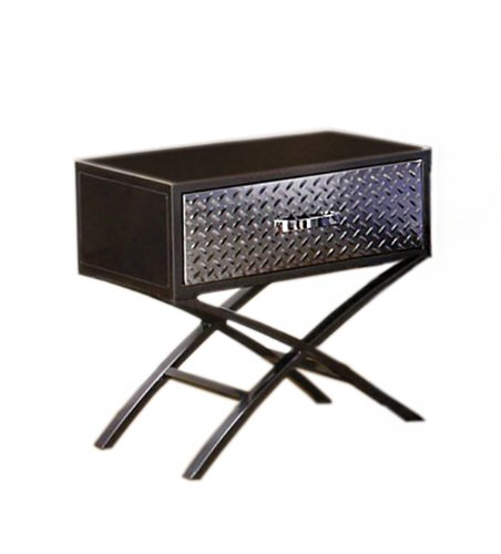 Bedside Table With Drawers 9537 front