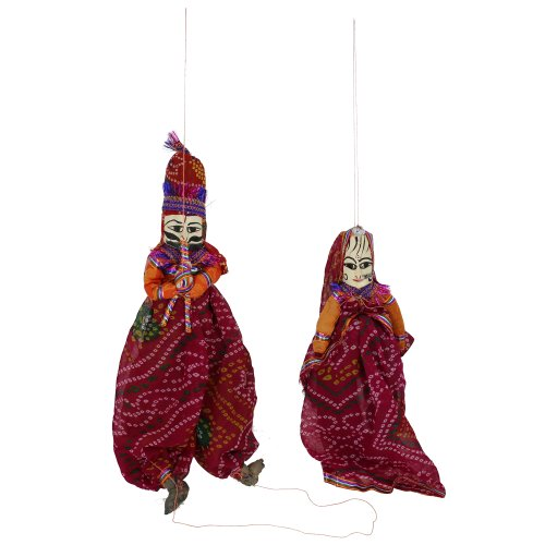 Marionette puppets string rag dolls Handcrafted Indian katputli - 1
