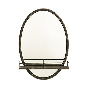 Cape Craftsmen Wall Mirror with Metal Shelf