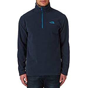 Polaire Zippée 100 Glacier 1/4 The North Face - Bleu Outer Space