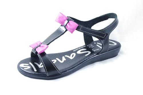 OH MY SANDALS, Infradito donna NEGRO-FUXIA