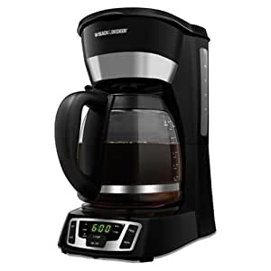 Amazon.com: Black & Decker CM1010B 12-Cup Programmable Coffeemaker with Glass Carafe: Drip ...