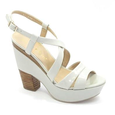 bruno premi femme sandales talons hauts cr me blanche 36 chaussures et sacs. Black Bedroom Furniture Sets. Home Design Ideas